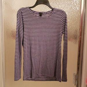 J. Crew Long-Sleeved Striped Shirt, Size XS